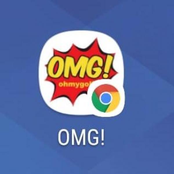 Logo OMG! Icon ganz einfach auf den Startbildschirm des Handys legen